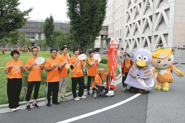 アイキャッチ:埼玉県庁を囲む大きなオレンジリング、大きな輪にとなり絆深まる