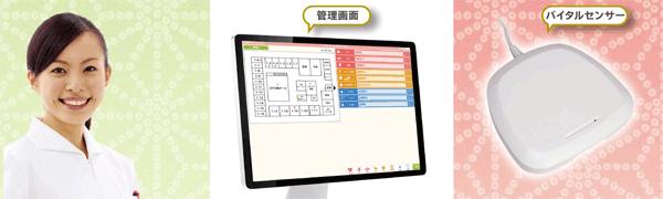 アイキャッチ:病院・介護施設向けIoT見守りシステム「Happiness絆」発売